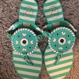 Women's teal jelly jack rogers size 7 NWOT